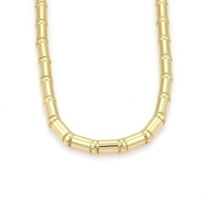"""Chopard 18k Yellow Gold 6mm Tube Link Fancy Necklace 16.5"""" Long"""