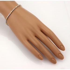 18k Yellow & White Gold 1.00ct Diamond X Link Tennis Bracelet