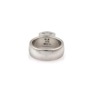 Chopard Happy Diamond 18k White Gold Heart Drop Charm Band Ring w/Cert