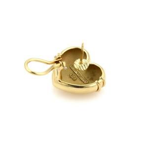 Tiffany & Co. 18k Yellow Gold Cupid Arrow Heart Post Clip Earrings
