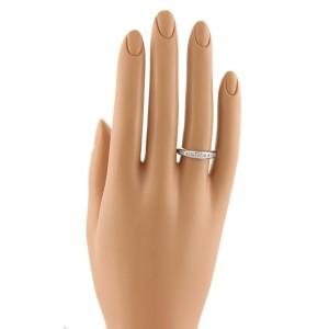 Tiffany & Co. Lucida Diamonds Half Circle Platinum Wedding Band Ring Size 6.25