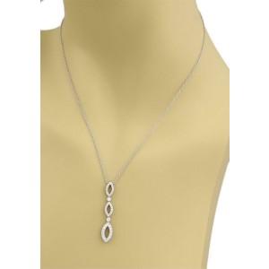 Tiffany & Co. Jazz Diamond Platinum Graduated 3 Tier Pendant Necklace