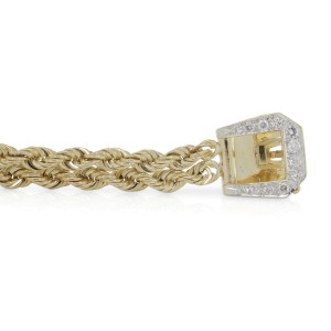 Rachel Koen Retro Woven Mesh Braided Diamond Bracelet With Diamond Buckle Accent