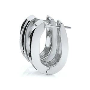 Rachel Koen 18K White Gold Round Cut Diamond Bangle, Ring and Earring Set