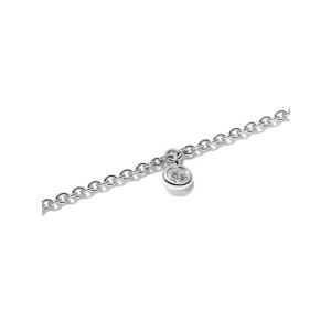 Rachel Koen Delicate Round Diamond Chain Bracelet 18K White Gold 0.10 cttw