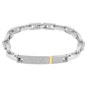 Bliss by Damiani Joint Stainless Steel 18K Yellow Gold Diamond Bracelet