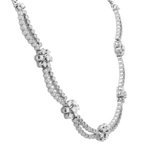 Rachel Koen18K White Gold Diamond Jewelry Set of Earrings and Necklace 6.20cttw