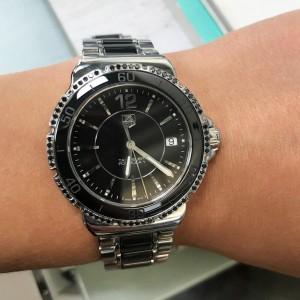 TAG Heuer Formula 1 Black Dial Steel Ceramic Ladies Quartz Watch WAH121A.BA0859