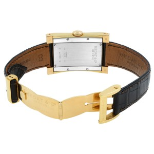 Bedat & Co No. 7 18k Gold 29mm Rectangle Black Dial Automatic Watch Ref 737
