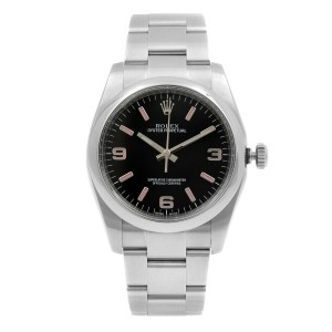 Rolex Oyster Perpetual 36mm Steel Black Dial Automatic Unisex Watch 116000