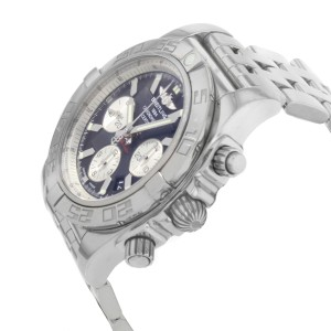 Breitling Chronomat Steel Black Dial Automatic Mens Watch AB011012/B967-375A