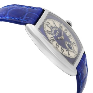 Franck Muller Cintree 18K Gold Blue Silver Dial Hand-Wind Ladies Watch 7502 S6