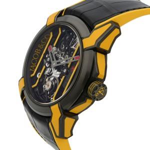 Jacob & Co. Epic X Skeleton Titanium Hand-Wind Mens Watch EX100.21.YR.PY.A