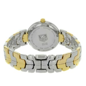TAG Heuer Link Steel 18K Yellow Gold Guilloche Quartz Lady Watch WAT1350.BB0957