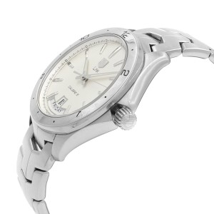 TAG Heuer Link Steel Silver Dial Day Date Automatic Mens Watch WAT2011.BA0951