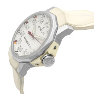 Corum The Admiral's Cup Steel White Dial Automatic Mens Watch 01.0010