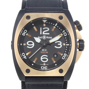 Bell And Ross Marine BR02_PINKGOLD_CA PVD Coated 18K Rose Gold Automatic Watch