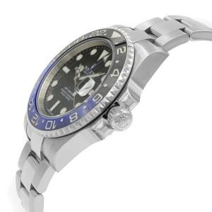 Rolex GMT Master II Black Dial Ceramic Batman Bezel Steel Mens Watch 116710BLNR