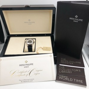 Patek Philippe Complications World Time White Gold Automatic Men Watch 5230G-001