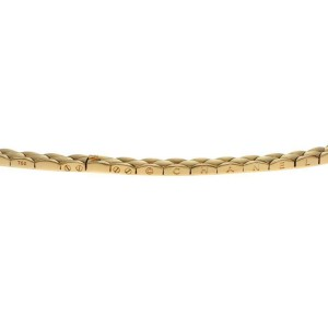 Chanel Quilted 18k Yellow Gold 7.5mm Wide Collar Necklace