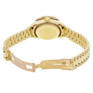 Rolex Datejust 26mm Custom Diamond Bezel Yellow Gold Ladies Watch 69178