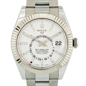 Rolex Sky-Dweller White Dial Automatic Mens Oyster Watch 326934WSO