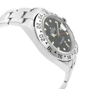 Rolex Explorer II Steel Black Dial GMT Automatic Mens Watch 16570