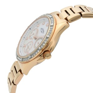Rotary Swarovski Accent Rose Gold Tone MOP Dial Quartz Womens Watch LB00069/41