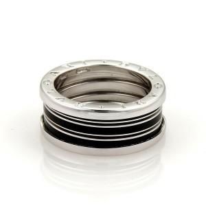 Bvlgari Bulgari B Zero-1 Biselovan 18k Gold Enamel Band Ring Size EU 61-US 9.25