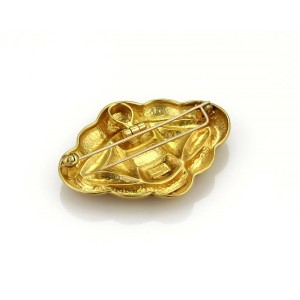 Ilias Lalaounis 18k Yellow Gold Hammered Fancy Brooch Pendant
