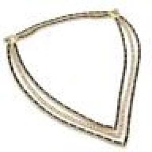 Estate 54.60ct Diamond & Sapphire 18k Yellow Gold Fancy 3 Row Necklace
