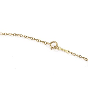 Tiffany & Co. 18k Yellow Gold 2 Interlaced Large Oval Ring Pendant Necklace