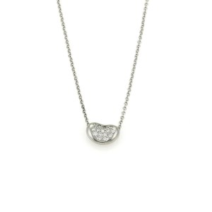 Tiffany & Co. Diamond Platinum Bead Pendant & Chain Necklace