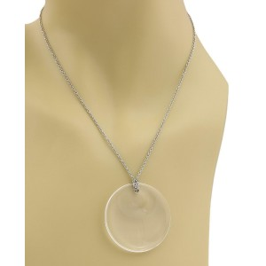 Tiffany & Co.Peretti Clear Quartz Large Full Moon Pendant & Platinum Chain