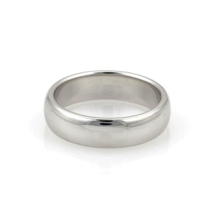 Tiffany & Co. Platinum 6mm Wide Dome Band Ring Size 9.5