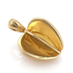Cartier Double C 18k Yellow Gold 3D Spinner Apple Pendant
