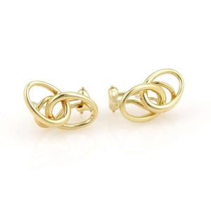 Tiffany & Co. Peretti 18K Yellow Gold Double Loop Designer Earrings