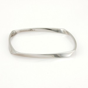 Tiffany & Co. Frank Gehry 18k White Gold Torque Bangle Bracelet