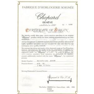 Chopard Cabochon Rubies & 18k Yellow Gold Curved Pear Shape Stud Earrings W/cert