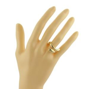 Tiffany & Co. Elsa Peretti 18k Yellow Gold Tear Drop Bypass Ring Size 6