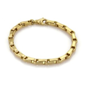 "Tiffany & Co. 18k Yellow Gold Long Box Chain Link Bracelet 8.75"" Long"