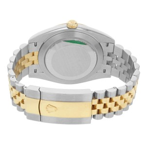 Rolex Datejust 41 Steel 18K Yellow Gold Champagne Index Dial Mens Watch 126333