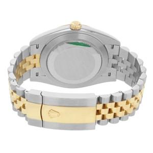 Rolex Datejust 41 Steel & 18K Yellow Gold Wimbledon Dial Mens Watch 126333 slgrj