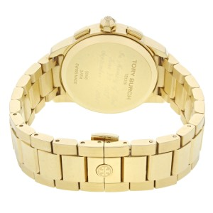 Tory Burch Collins Yellow Gold  Tone Cream Dial Steel Quartz Ladies Watch TB1250