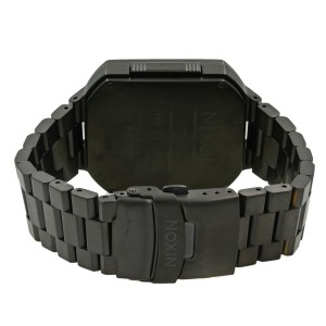 Nixon Synapse Chronograph Sensored Black PVD Steel Quartz Men's Watch A323-001
