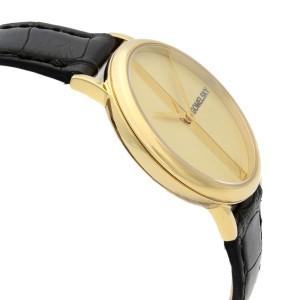 Gomelsky Agnes Varis Steel Gold Dial Quartz Ladies Watch G0120023286