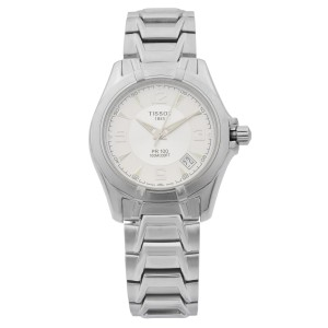 Tissot PR 100 Steel Silver Arabic Dial Quartz Mens Watch 38mm P660/760