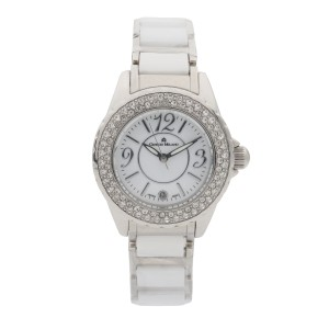 Giorgio Milano Stainless Steel White Dial Quartz Ladies Watch GM705SLWH