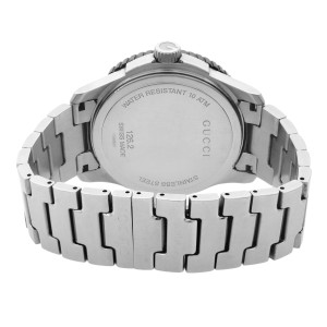 Gucci G-Timeless Sport Stainless Steel Silver Dial Quartz Mens Watch YA126250