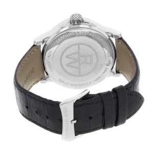 Raymond Weil Tradition Black Roman Dial Day Date Steel Mens Watch 9576-STC-00200